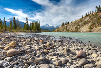 North Saskatchewan River at Saskatchewan Crossing, Banff National Park, Alberta