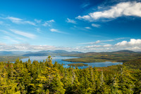 Rangeley Lake from Bald Mountain, Franklin County, Maine