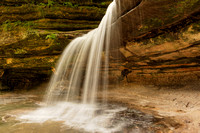 LaSalle Canyon Summer Waterfall, Starved Rock State Park, Illinois