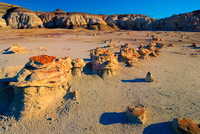 """The Lineup,"" Egg Factory, Bisti Badlands, New Mexico"